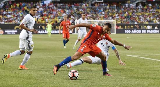 ชิลีจัดหนักโคลอมเบีย 2-0 เข้ารอบชิงพบอาร์เจนติน่า