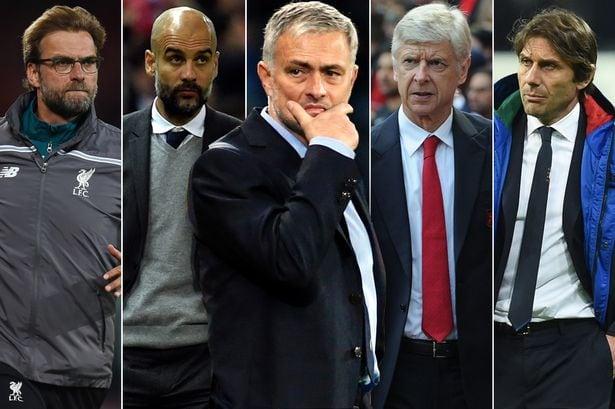 Klopp-Guardiola-Mourinho-Wenger-Conte