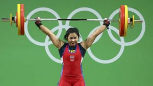 2016 Rio Olympics - Weightlifting - Final - Women's 63kg - Riocentro - Pavilion 2 - Rio de Janeiro, Brazil - 09/08/2016. Siripuch Gulnoi (THA) of Thailand competes. REUTERS/Yves Herman FOR EDITORIAL USE ONLY. NOT FOR SALE FOR MARKETING OR ADVERTISING CAMPAIGNS.