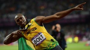 13 Usain Bolt in the Olympic Games 100m and 200m. for C