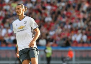GOTHENBURG, SWEDEN - JULY 30:  Zlatan Ibrahimovic of Manchester United in action during the pre-season friendly match between Manchester United and Galatasaray at Ullevi on July 30, 2016 in Gothenburg, Sweden.  (Photo by John Peters/Man Utd via Getty Images)