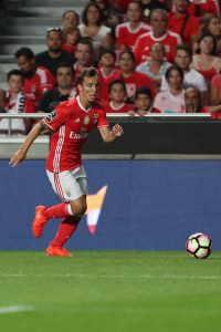 LISBON, PORTUGAL - AUGUST 21: Benfica's Spanish defender Alex Grimaldo during the match between SL Benfica and Vitoria Setubal FC for the Portuguese Primeira Liga at Estadio da Luz on August 21, 2016 in Lisbon, Portugal. (Photo by Carlos Rodrigues/Getty Images)