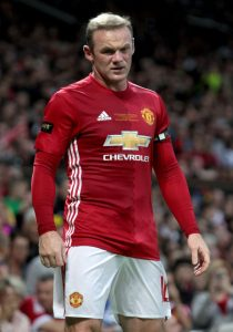 "Manchester United's Wayne Rooney during Wayne Rooney's Testimonial at Old Trafford, Manchester. PRESS ASSOCIATION Photo. Picture date: Wednesday August 3, 2016. See PA story SOCCER Man Utd. Photo credit should read: Peter Byrne/PA Wire. RESTRICTIONS: EDITORIAL USE ONLY No use with unauthorised audio, video, data, fixture lists, club/league logos or ""live"" services. Online in-match use limited to 75 images, no video emulation. No use in betting, games or single club/league/player publications."