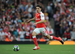 LONDON, ENGLAND - SEPTEMBER 24:  Hector Bellerin of Arsenal during the Premier League match between Arsenal and Chelsea at Emirates Stadium on September 24, 2016 in London, England.  (Photo by Stuart MacFarlane/Arsenal FC via Getty Images)