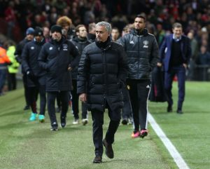 MANCHESTER, ENGLAND - NOVEMBER 27: Manager Jose Mourinho of Manchester United walks out ahead of the Premier League match between Manchester United and West Ham United at Old Trafford on November 27, 2016 in Manchester, England. (Photo by Matthew Peters/Man Utd via Getty Images)